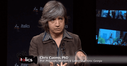 Chris Cuomo (philosopher) Chris Cuomo featured on CUNYtvs Italics for Womens History Month
