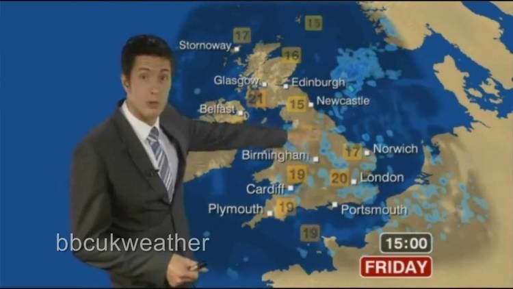 Chris Fawkes BBC Weather 0956 Thursday 12 August 2010 with Chris