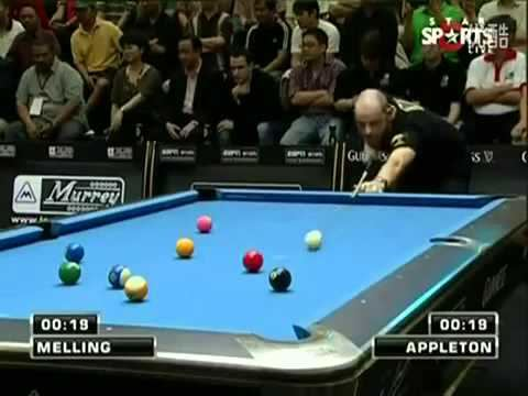 Chris Melling (pool player) Chris Melling 40 Second Clearance Speed Pool YouTube