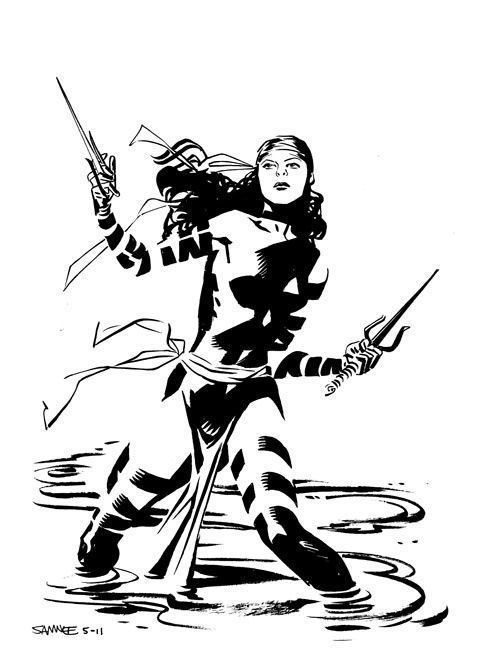 Chris Samnee Elektra by Chris Samnee Elektra Pinterest Batgirl