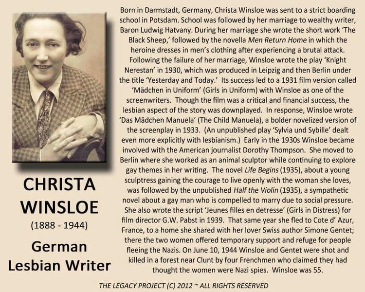 Christa Winsloe Christa Winsloe