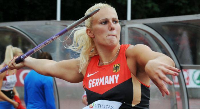 Christin Hussong Gold und U23Rekord Christin Hussong wirft 6560 Meter