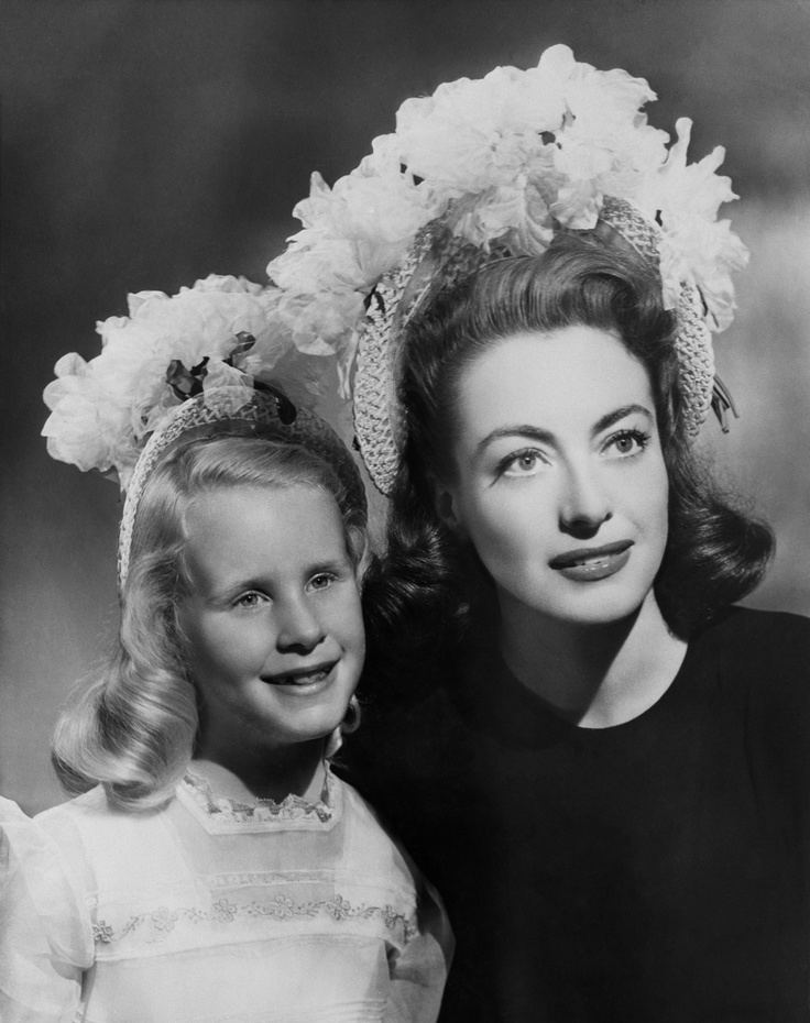 Christina Crawford Headpieces vintage Joan and Christina Crawford in