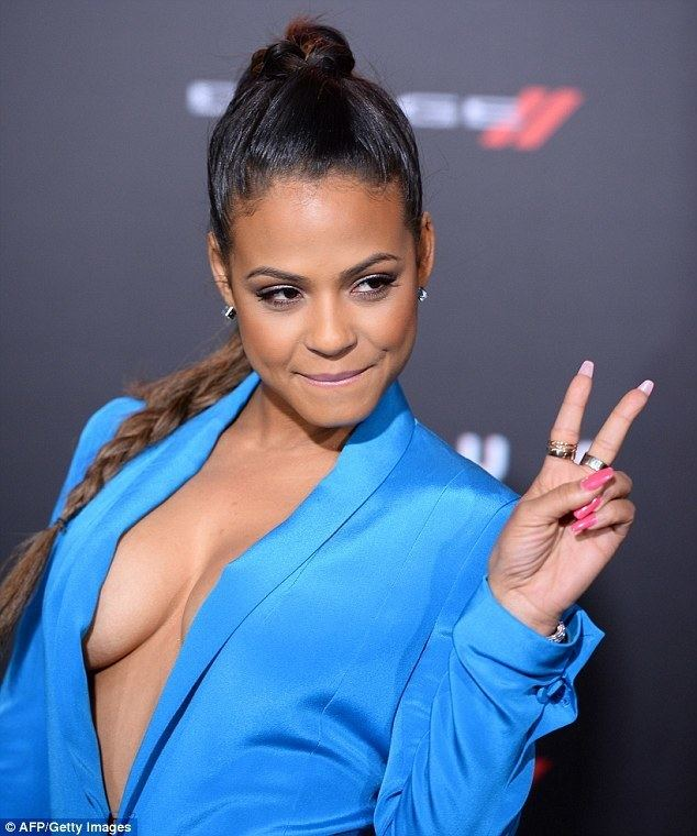 Christina Milian Christina Milian shows off too much sideboob at LA Focus