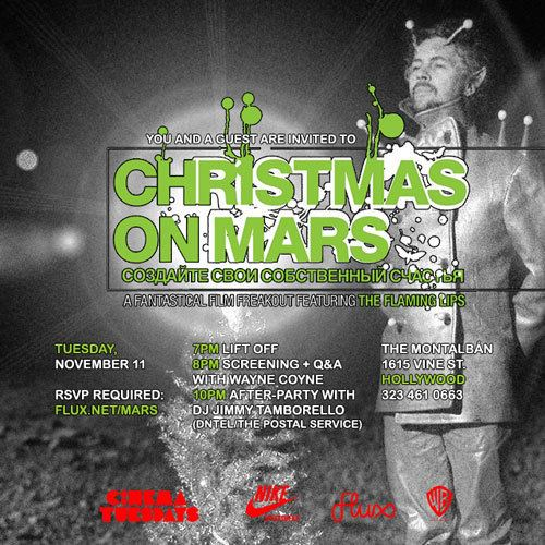Christmas on Mars Cinema Tuesdays Christmas on Mars Hollywood Flux A global