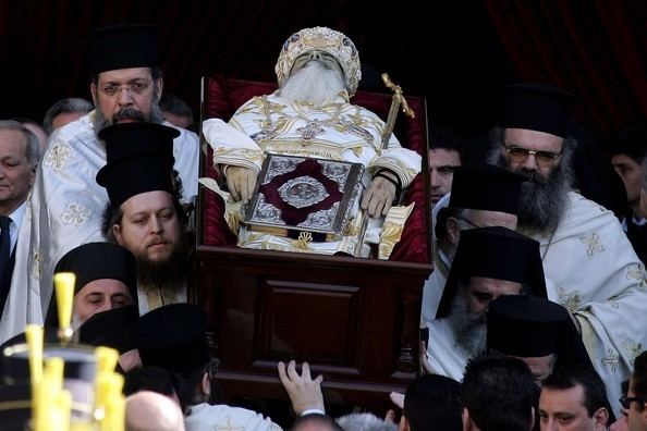 Christodoulos of Athens Funeral Held For Archbishop Christodoulos In Athens