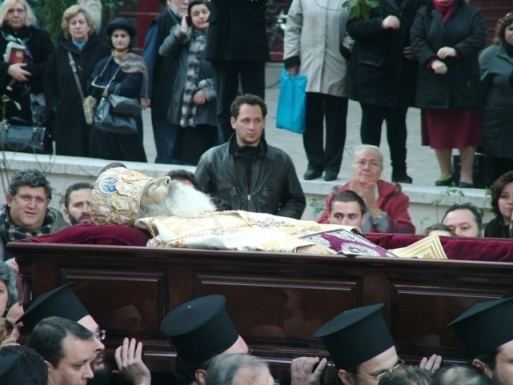 Christodoulos of Athens OrthPhoto The funeral of Archbishop Christodoulos of