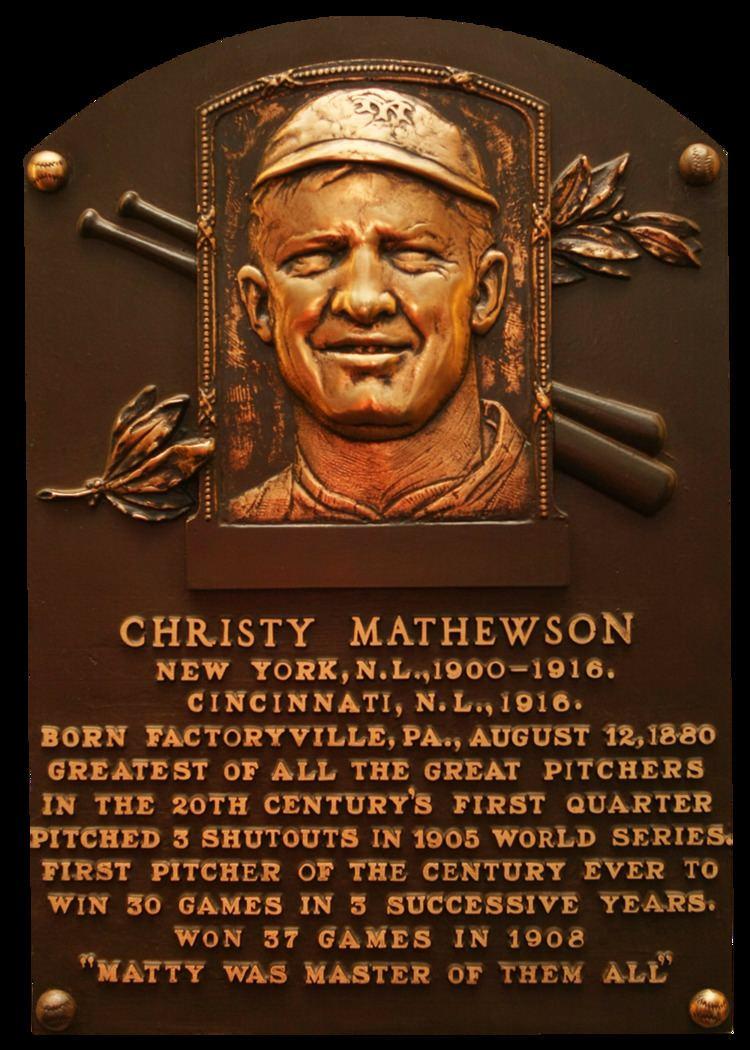 Christy Mathewson Mathewson Christy Baseball Hall of Fame