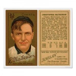 Christy Mathewson Christy Mathewson Baseball Cards and Autographs