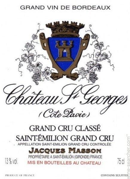 a150416c7da Château Saint Georges (Côte Pavie) Chateau SaintGeorges Cote Pavie  SaintEmilion Grand Cru France