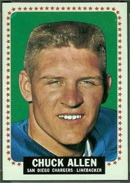Chuck Allen wwwfootballcardgallerycom1964Topps154ChuckA