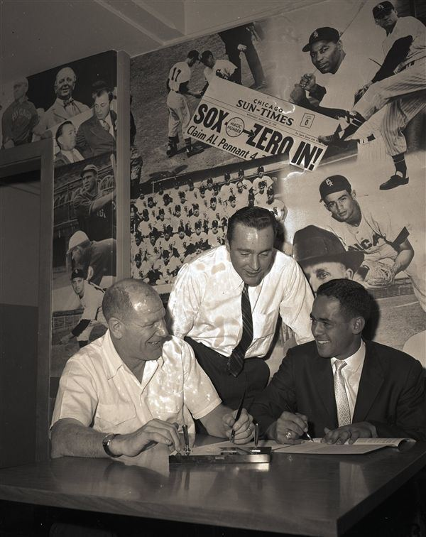 Chuck Comiskey Lot Detail 1960 Bill Veeck Chuck Comiskey Jr Luis Aparicio