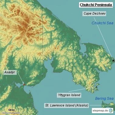 Chukchi Peninsula wwwmountainstampcom