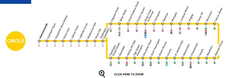 Circle line (London Underground) Circle Line London Map Timetable Service Status