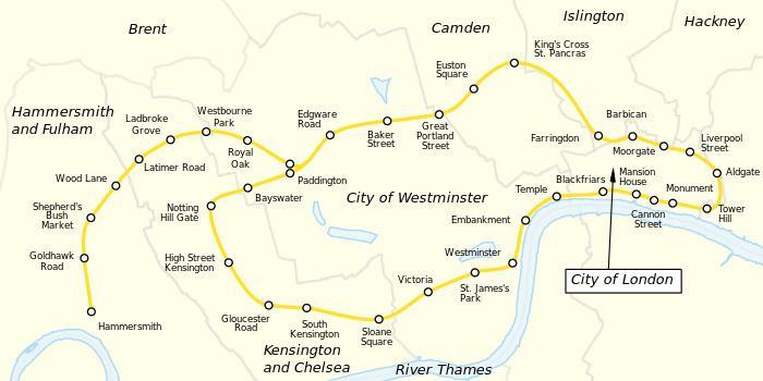 Circle line (London Underground) Circle line London Underground Wikipedia