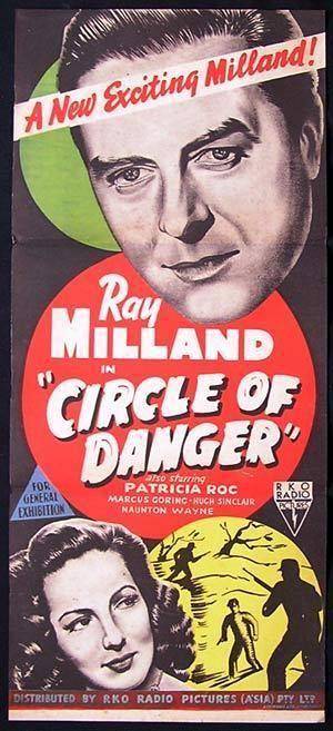 Circle of Danger CIRCLE OF DANGER Movie Poster 1951 Ray Milland RKO NOIR daybill