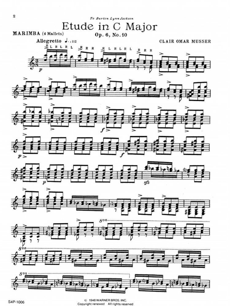 Clair Omar Musser COmusser Etude C Dur