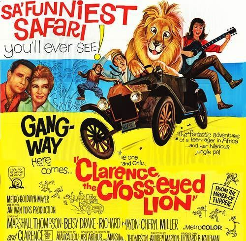 Clarence, the Cross-Eyed Lion Clarence the crosseyed lion movie posters at movie poster warehouse
