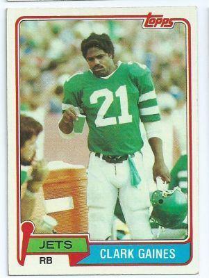 Clark Gaines NEW YORK JETS Clark Gaines 144 TOPPS 1981 Orange Back NFL American