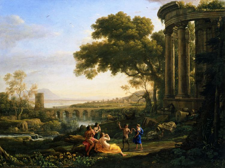 Claude Lorrain FileClaude Lorrain Landscape with Nymph and Satyr Dancing
