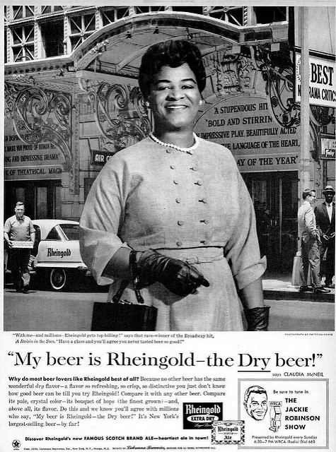 Claudia McNeil Actress Claudia McNeil for Rheingold Beer Advertisement