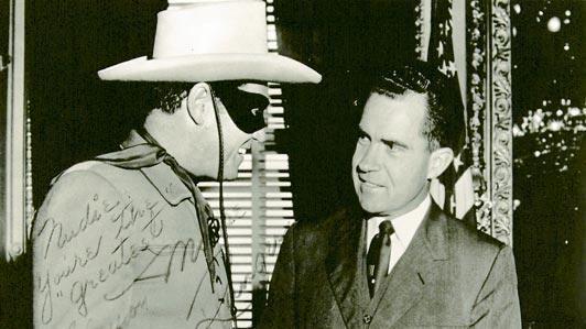 Clayton Moore Richard Nixon Clayton Moore Lone Ranger LA Times