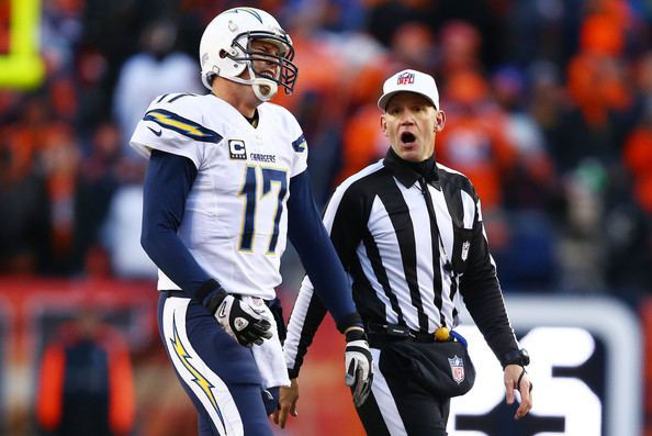 Clete Blakeman Philip Rivers and Clete Blakeman Photos Divisional