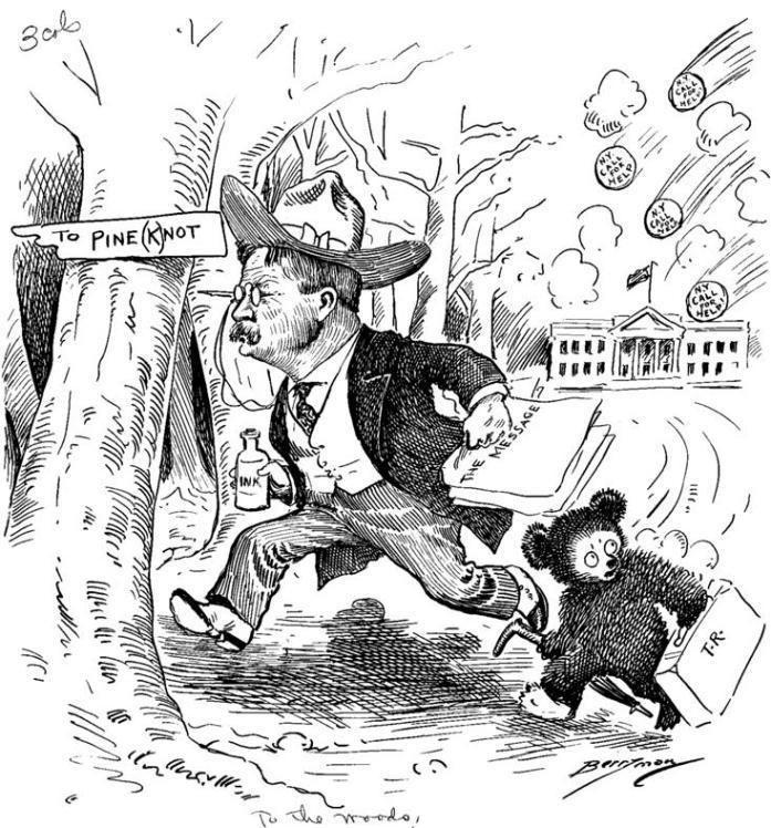 Clifford K. Berryman Almanac of Theodore Roosevelt Berryman Cartoons about