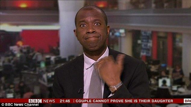 Clive Myrie BBC39s Clive Myrie makes throat slash gesture during