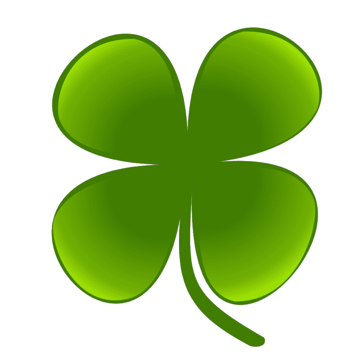 Clover Clipart of Shamrocks and Four Leaf Clovers