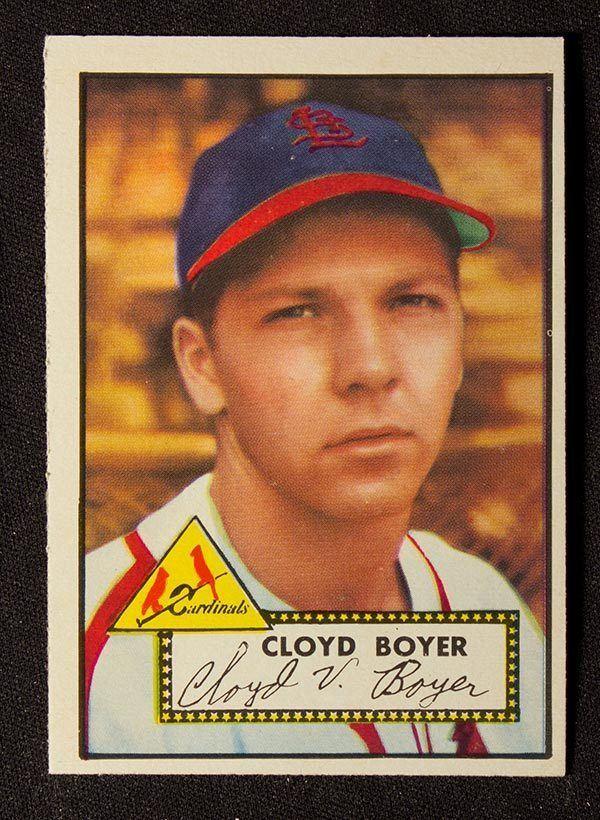 Cloyd Boyer BMW Sportscards 1952 Topps Baseball Cards