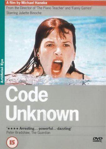 Code Unknown Code Unknown 2001 DVD Amazoncouk Juliette Binoche Thierry