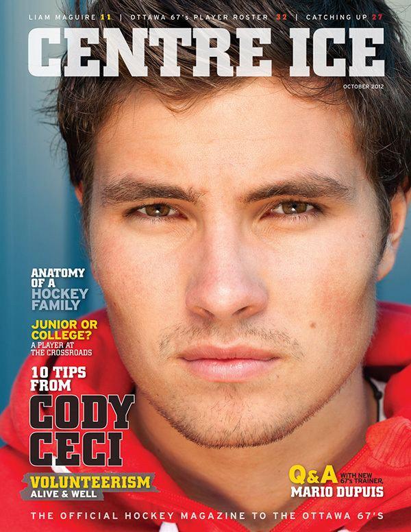 Cody Ceci Ottawa Editorial Portrait Photographer Cody Ceci for Centre Ice