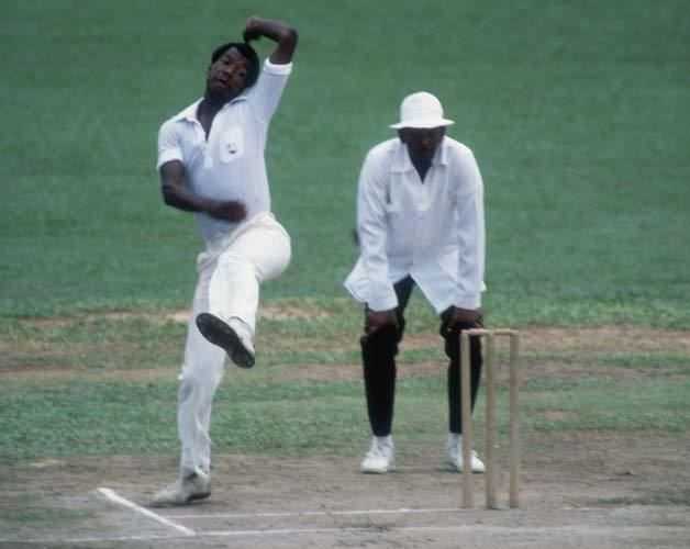 Colin Croft takes 8 for 29 bestever figures for a West Indian fast