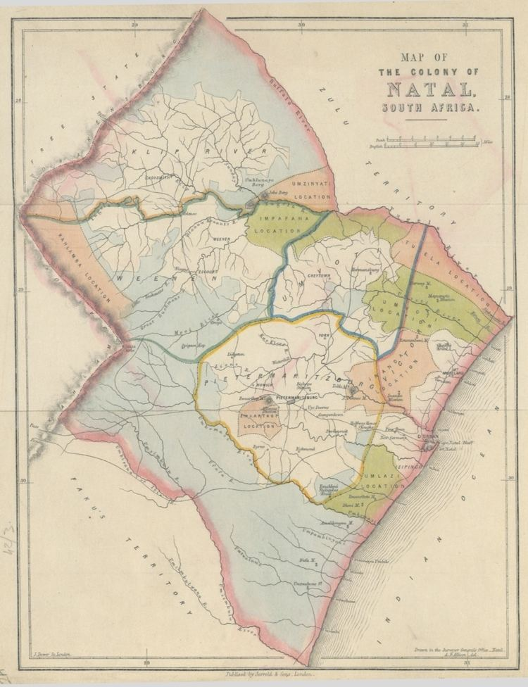 Colony of Natal FileMap of the Colony of Natal South Africajpg Wikimedia Commons