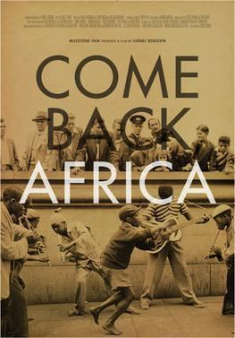 Come Back, Africa movie poster