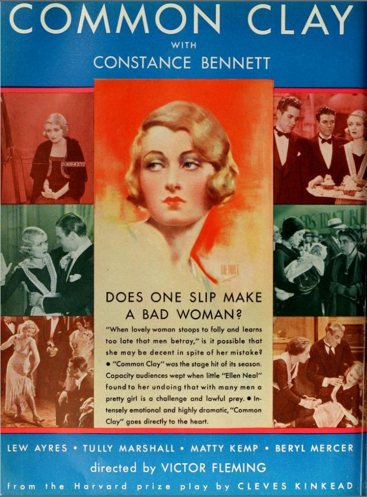 Common Clay (1930 film) Vintage Film Advert for Common Clay 1930 CharmaineZoes Marvelous