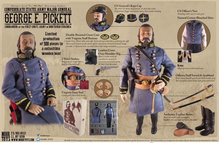 Confederate States Army George Edward Pickett 16 Figure Confederate States Army Major