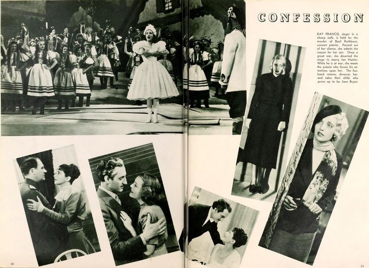 Confession (1937 film) Confession 1937 Kay Francis Life Career