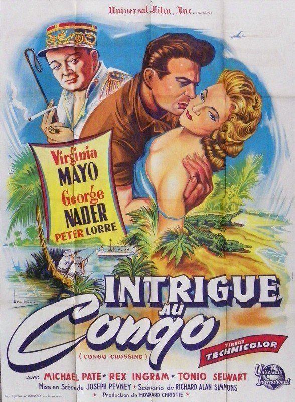 Congo Crossing Brantone Movie Poster Congo Crossing 1956
