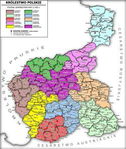 Congress Poland Administrative division of Congress Poland Wikipedia