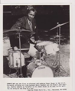 Connie Kay 8x10 VINTAGE PHOTO 770 CONNIE KAY DRUMMER MUSICIAN SONOR DRUMS