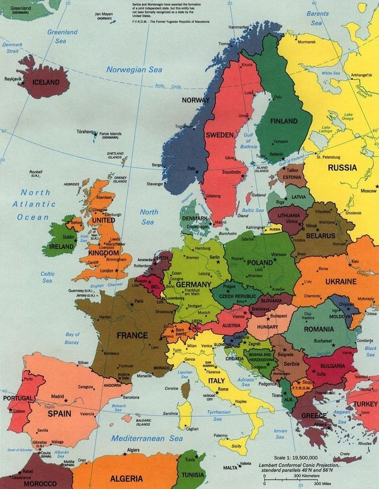 Continental Europe Map of Europe Continental Pictures Map of Europe Countries