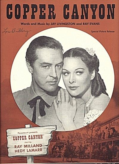 Copper Canyon (film) Copper Canyon Movie Theme Song Hedy Lamarr 1949 Sheet Music of