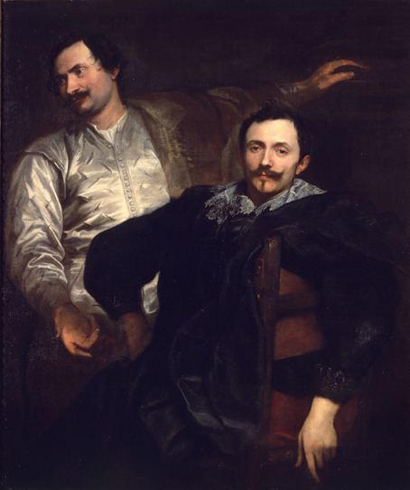 Cornelis de Wael Double Portrait of Brothers Lucas and Cornelis de Wael