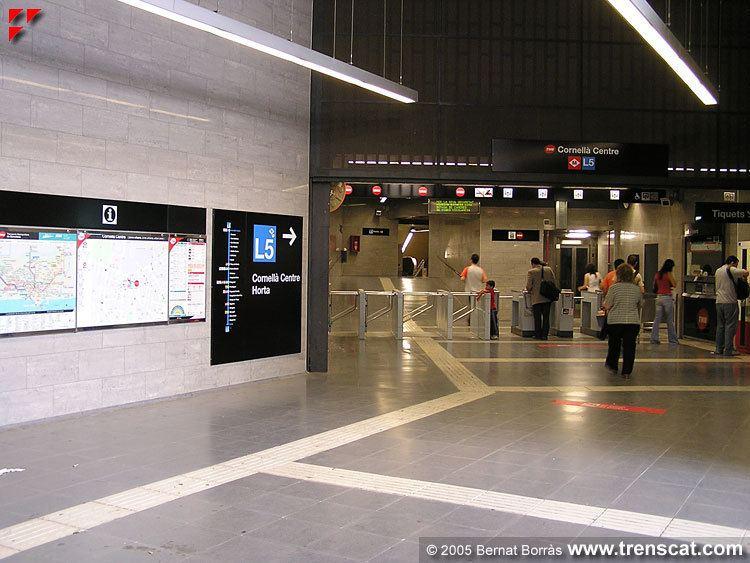 Cornellà Centre station wwwtrenscatcomtmbimagesmetrol5cornellacentr