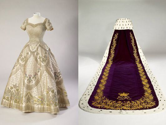 Coronation gown of Elizabeth II Norman Hartnell For the coronation of Queen Elizabeth II June 2