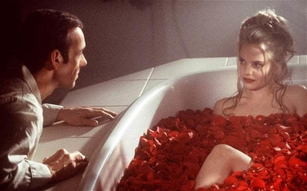 Corrupt (1999 film) movie scenes Lester Burnham Kevin Spacey is intrigued by Angela Mena Suvari in a