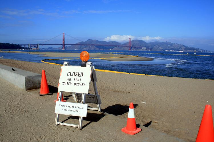 Cosco Busan oil spill FileOil spill in san francisc bay 1jpg Wikimedia Commons