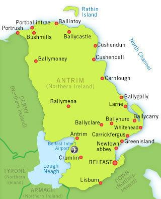 County Antrim County Antrim Accommodation Tourist Information Northern Ireland